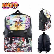 Naruto Uzumaki Kakashi Backpack Anime Colorful School Shoulder Bag Nylon Black