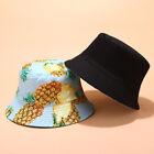 Bucket Hat Travel Summer Fruit Packable Fishing Beach Sun Hat Unisex Embroidery