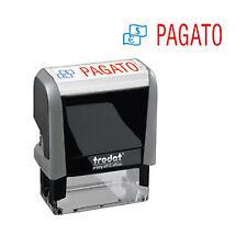 "Timbro Printy Office Eco 47x18mm ""PAGATO"" TRODAT"