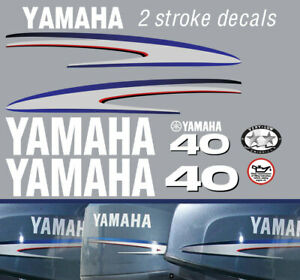 YAMAHA 40hp 2 stroke outboard decals