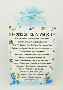 Hospital Survival Kit - Unique Fun Novelty Gift & Card All In One