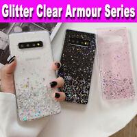 Samsung S10,S9,S8,A10,A20e,A70,A41,A21s GLITTER BLING Shockproof TPU Case Cover