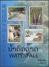Laos block no 176 ** bf chuttes water (see description) 2008 waterfalls sc#1755 mnh