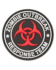 Zombie Outbreak PVC Hook Moral Badge Military Patch airsoft paintball