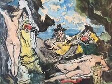 Paul Louis Guilbert (1886- 1952) color aquatint pencil signed limited  aquatinte