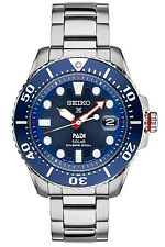 New Seiko Prospex Solar PADI Men's Stainless Steel Diver Watch SNE435