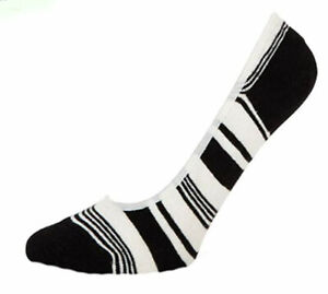 Kate Spade New York Mixed-Stripe Liner Socks Cream