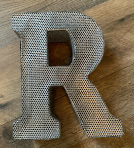 Silver Letter Wall Decoration R Metal Letter for Home Decor Alphabet