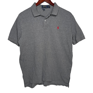 Polo Ralph Lauren Polo Shirt Size Large Classic Fit Grey