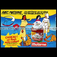 CONFITURE MATERNE & LES MONDES ENGLOUTIS Récré A2 1985 - Pub Publicité Ad #B143