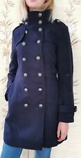 Womens Coat Navy Blue Military Style Jacket Fully Lined Winter Weight RRP £59.