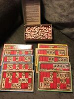 Whitman Lotto Game Box Board Game Vintage 1930's 10 Cards Box Full + markers
