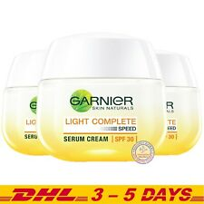 Garnier Light Complete White Speed Whitening Serum Cream Day Cream, 50ml x 3
