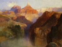 Zoroaster Peak Thomas Moran Landscape Painting Print on Canvas Repro Giclee 8x10