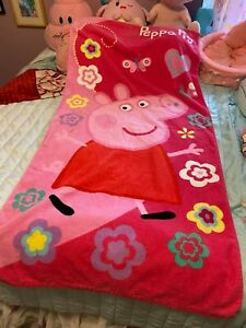 Peppa Pig Children's Beach Bath Towel Swimming Long Hot Pink Cartoon