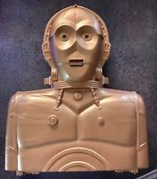 STAR WARS C3-PO plastic action figure collector/carrying case 1983 Kenner TALKS!