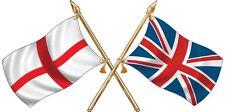 GRANDE Inghilterra St George/Bandiera Union Jack attraversato Adesivo Camion Auto Camper Van
