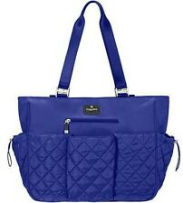 New Baggallini On the Go Diaper Bag Baby Tote Cobalt Blue