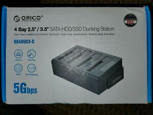 "ORICO 4 Bay Hard Drive Clone Dock 2.5"" & 3.5""HDD& SDD Docking Station 5Gbps Read"