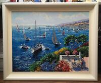 Kerry Hallam Riviera Regatta Oil Painting
