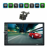 """7"""" 2 DIN HD Car Stereo Radio Bluetooth MP5 Player Touch Screen+Rearview Camera"""