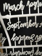 Months & Days Cursive Letter Set Letter Board Accessories 14 Dashes & 14 Periods