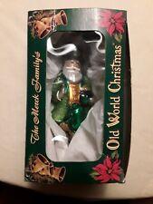 "Old World Christmas Irish Santa Christmas Ornament 6 1/2"" 2001 All Origional"