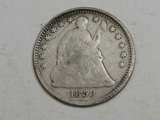 1858 Silver Seated LIBERTY Half Dime.  #52