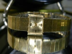 "LN 1978 Women's Triple Gold 6.3"" Seiko Rainbow 25 Jewel Mechanical Watch 18-3100"