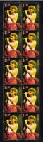 LINDA RONSTADT STRIP OF 10 MINT VIGNETTE MUSIC VIGNETTE STAMPS 2