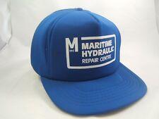 Maritime Hydraulic Repair Centre Hat Vintage Blue Snapback Baseball Cap