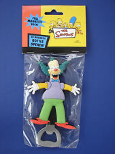 THE SIMPSONS 2005 KRUSTY THE CLOWN RUBBERIZED MAGNETIC BOTTLE OPENER SEALED!
