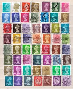 GROUP OF STAMPS FROM GREAT BRITAIN USED  J-278