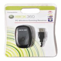 NEW PC Wireless Controller Gaming Receiver Adapter For Microsoft XBOX 360 Black