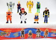 Dragon Ball GT 8 personaggi serie completa plastica dura Dolci Preziosi cm.4/4,2