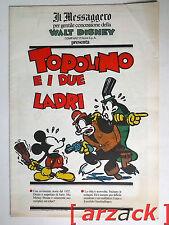 TOPOLINO supplemento a IL MESSAGGERO Topolino e i due ladri 11/11/89