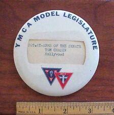 "Vintage YMCA Hollywood California 3 1/2"" Diameter Pinback Button"