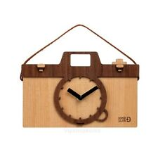 Wood Camera Clock Assembly Kit Korean Desk Bedside Home office Wall CAMERA CLOCK