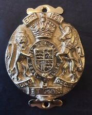 Brass Queen Elizabeth 1953 Coronation Door Knocker Made in England Royalist arms