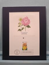 Honoring Flowers - The First Day Cover of the Chrysanthemum Flower Stamp