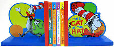 Dr Seuss Board Books Hop on Pop,Ten Apples,Shape Me+ Cat in the Hat Bookends