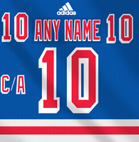 New York Rangers  NHL Adidas Dark Jersey Any Name Any Number Pro Lettering Kit