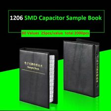 1206 SMD SMT Capacitors Kit Components Samples Book Capacitor Assorted 80 Values