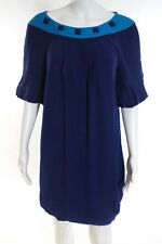 Marc By Marc Jacobs Royal Blue Short Sleeve Scoop Neck Dress Size Medium