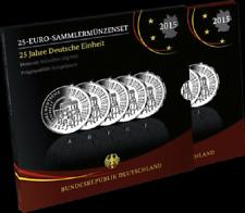 """2015 - 5 x 25 € """"25 Jahre Deutsche Einheit"""" - Silber - PP - OVP"""