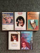 Elvis Cassette Lot Of 5 Favorites 50 Hits How Great Thou Art Legend Lives On