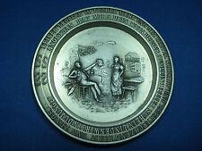 "Dia 3.5"" Antique German Embossed & Engraved Pewter Coaster Series Lindenwirtin"