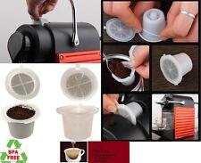 5 Refillable/ Reusable Nespresso Capsule set, Built In Stainless Steel Filter
