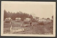 Postcard Exbury nr Lymington New Forest house Gilbury posted 1906 RP by Mentor