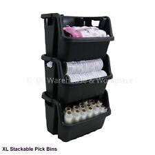 NEW Extra Large Stackable Plastic Retail Display Pick Bins Bin Basket